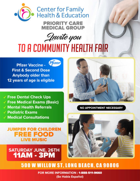 Click on Flyer for More Info about the services offered at our Long Beach Clinic